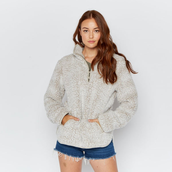 Oatmeal Sherpa Pullover