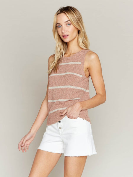Peace of Mind Striped Sweater Tank
