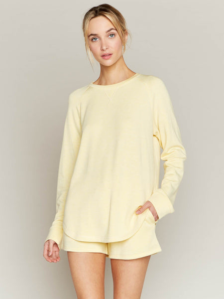 Butter Yellow Feel At Home Long Sleeve Tee