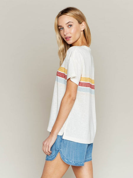 Almost Famous Rainbow Stripe Tee