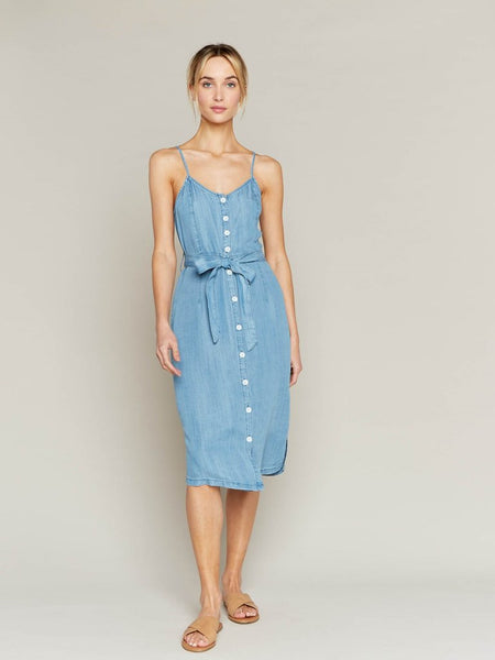 It's A Scorcher Denim Midi Dress