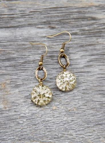 Small Gold Crystal Drop Earrings