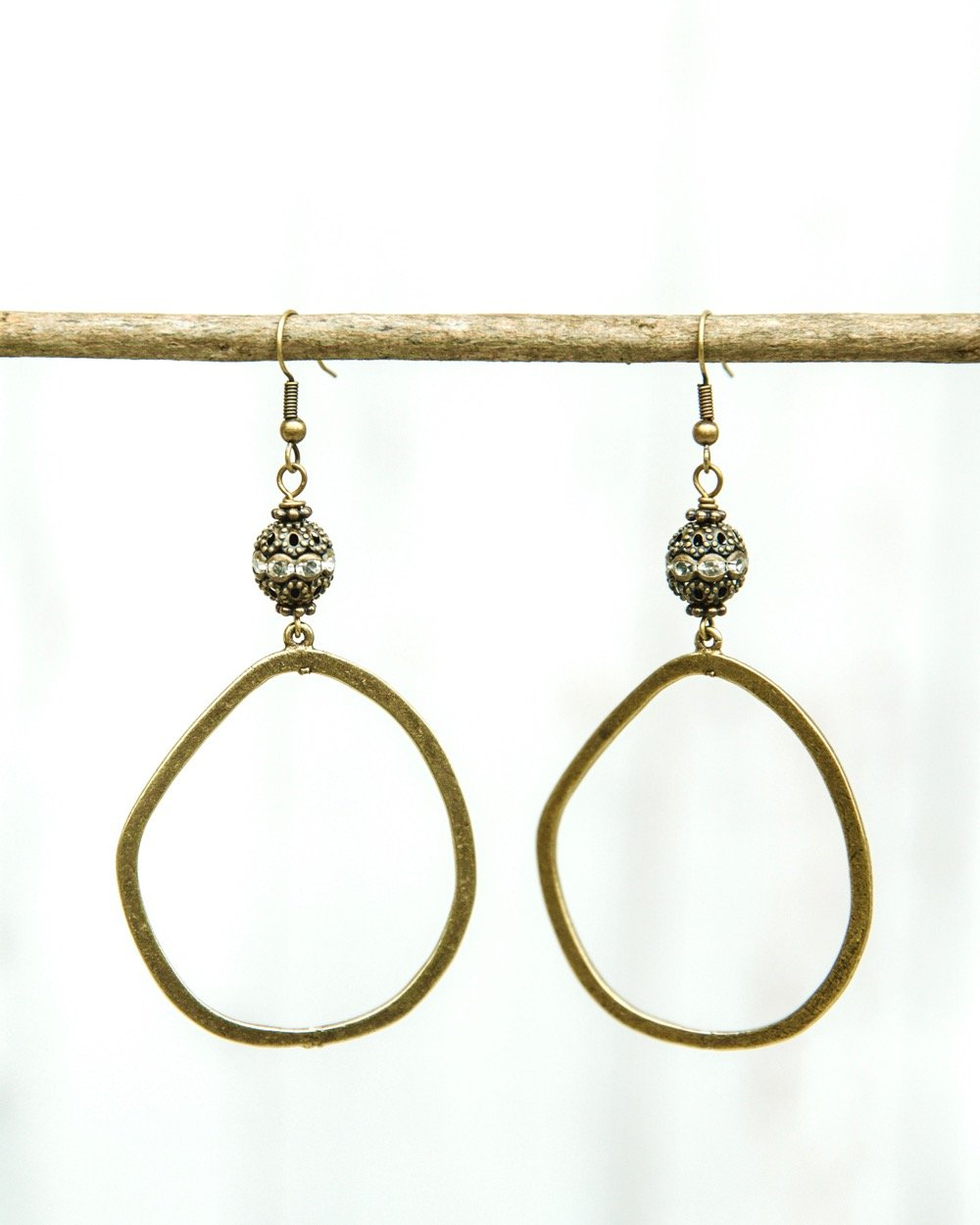 Large Bling Hoop Earrings