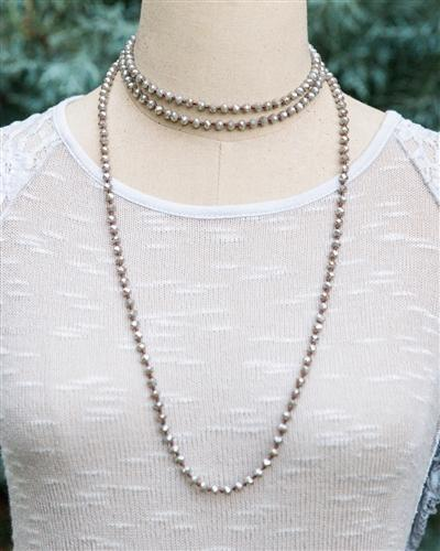 Crystal Knotted Flapper Necklace