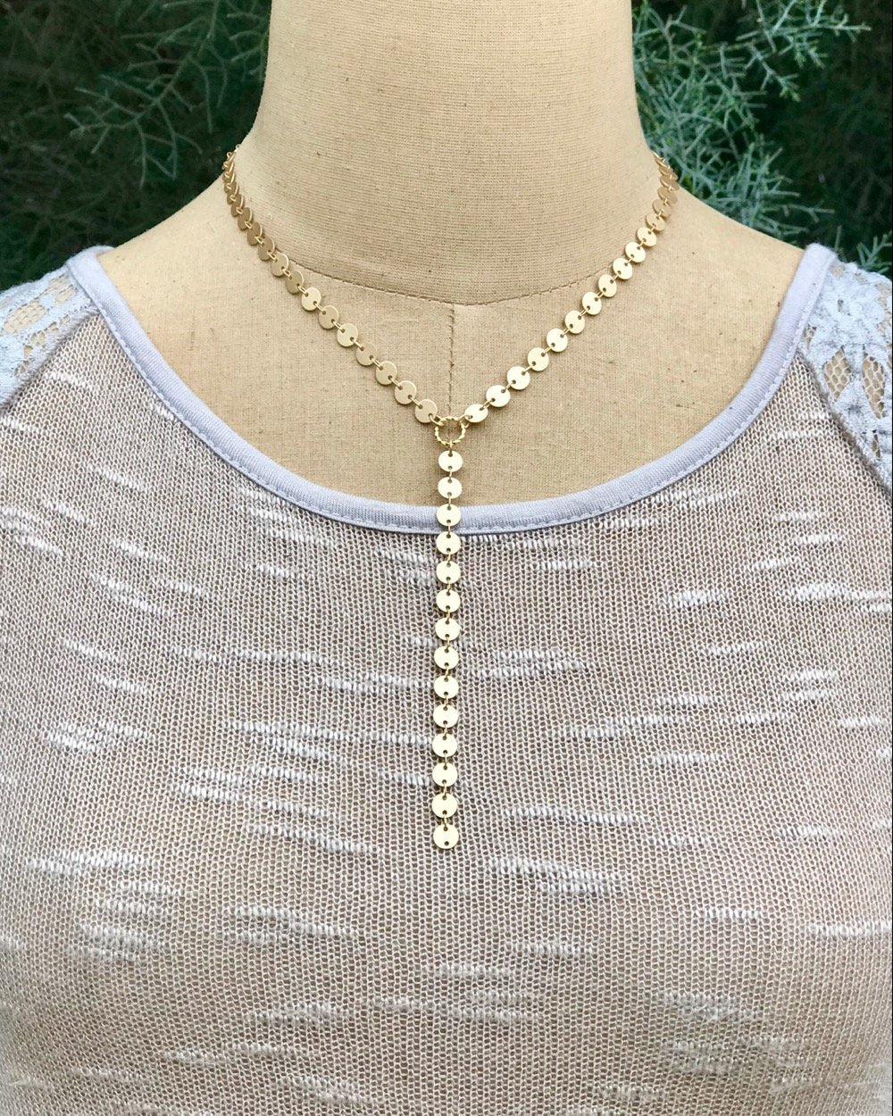 Bright Gold Pathway Necklace