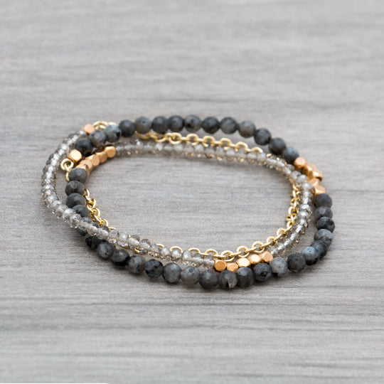 Fifi Triple Wrap Beaded Bracelet