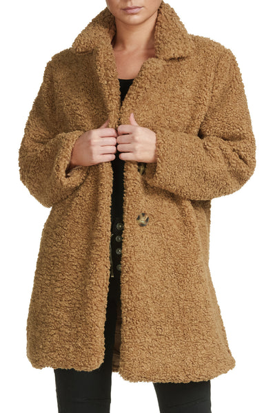Brown Sherpa Teddy Bear Jacket