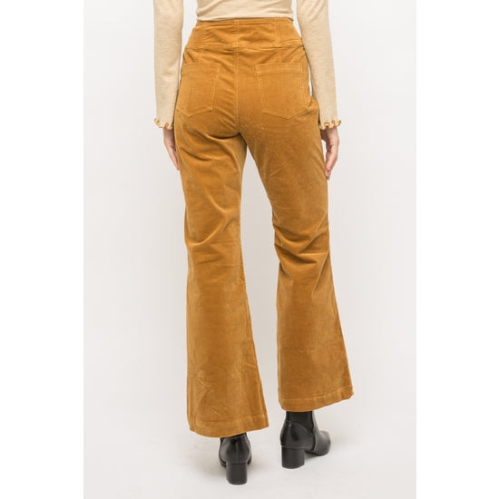 Mustard Corduroy Bell Bottom Pants