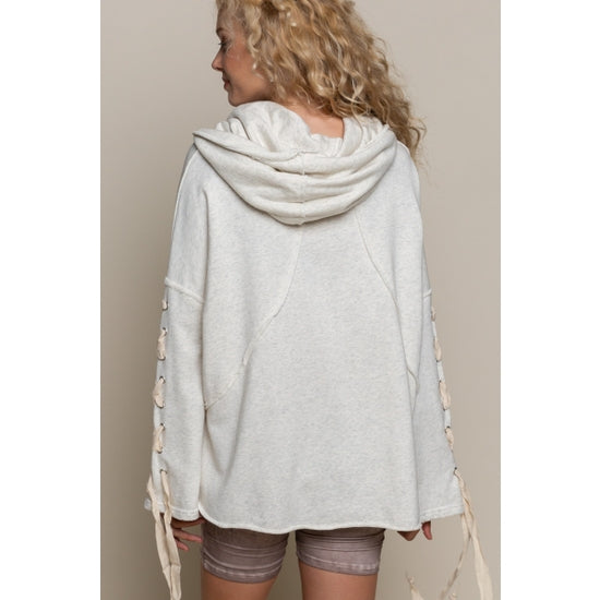 Cowl Neck Relaxed Fit Hoodie