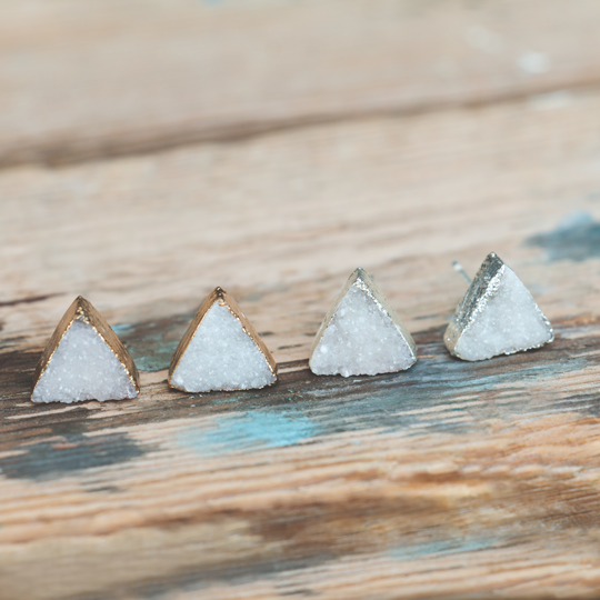 Prima Donna Triangle Stone Stud Earrings