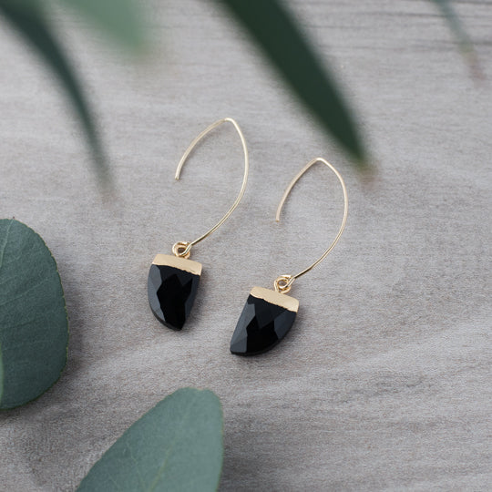 Chic Black Onyx Drop Earrings
