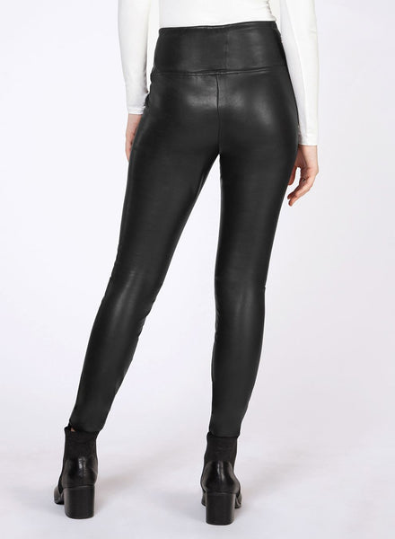 Black Faux Leather High Waisted Legging