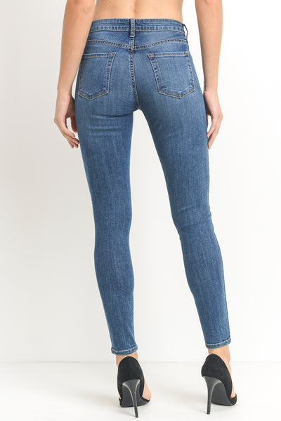 One Knee Distress Skinny Jeans