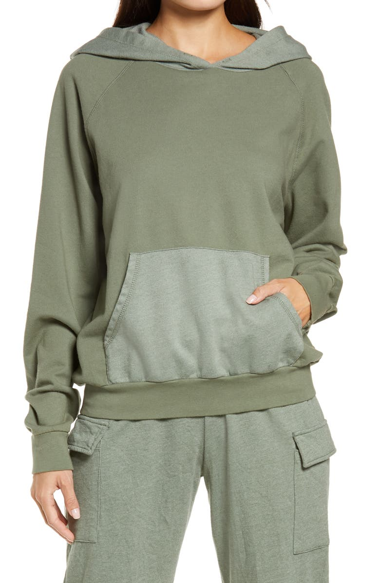 Olive Green Kanga Pullover Hoodie