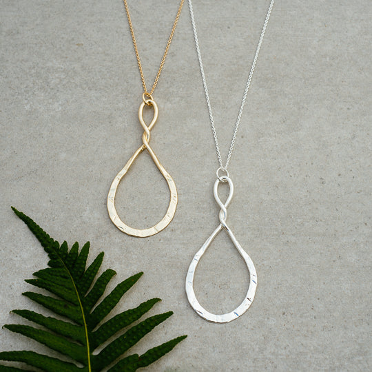 Convolution Necklace (Large Tear Drop)