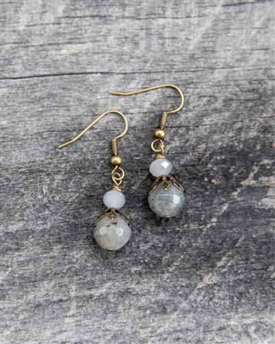 Beaded Double Stacked Earrings