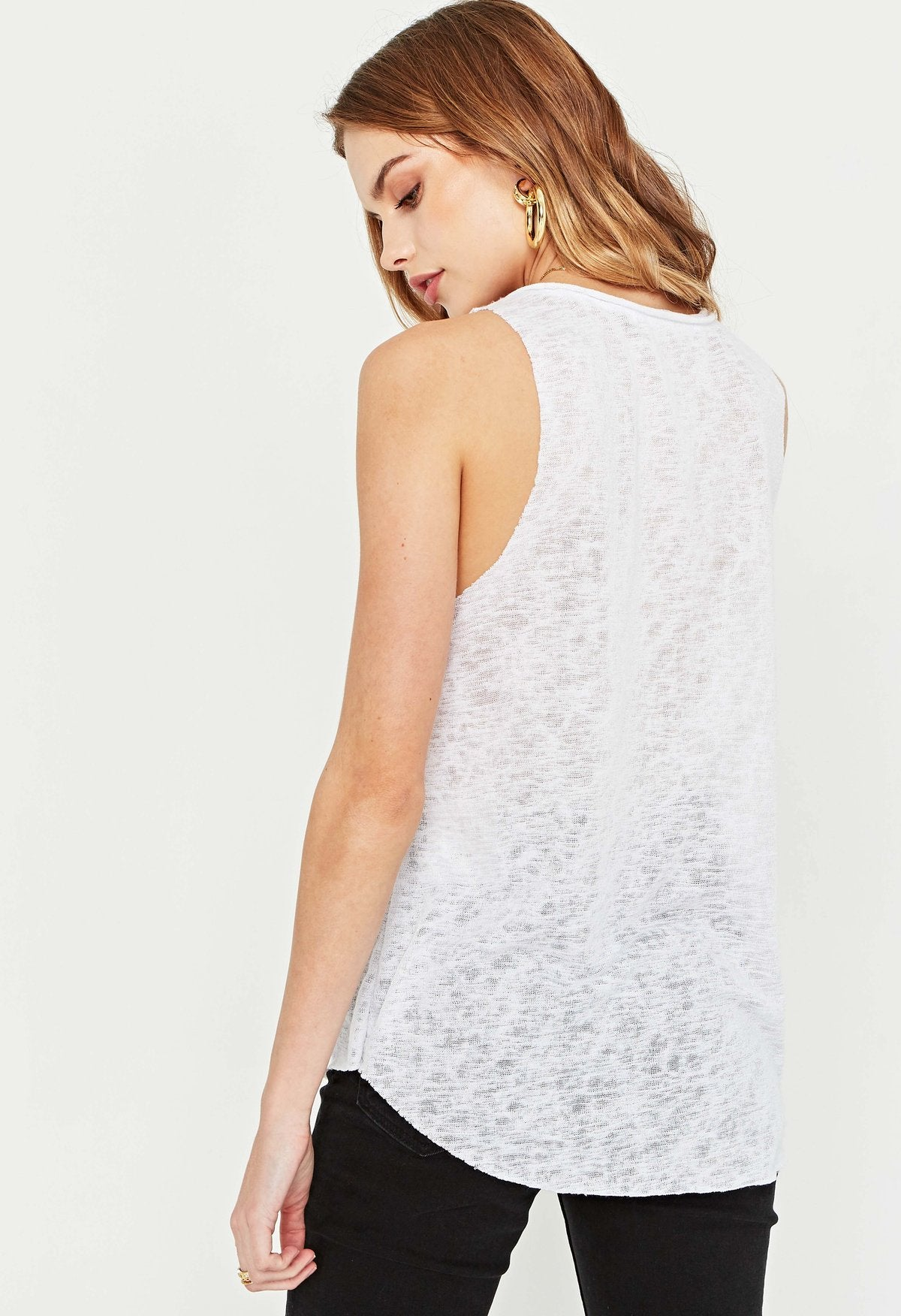 Tank Top with Notch Neckline