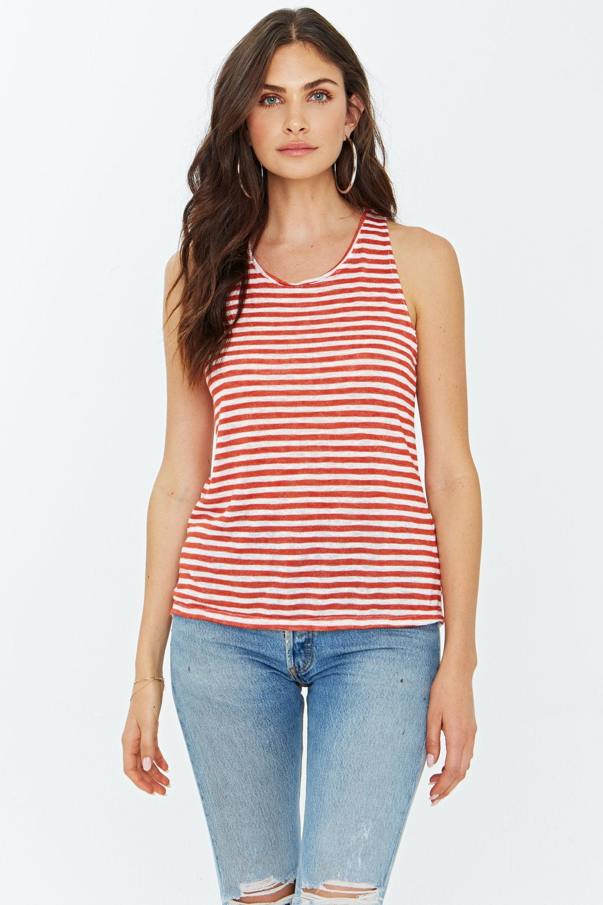 Striped Tank Top by Project Social T