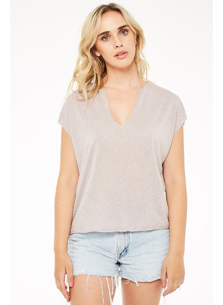 Right Here Notch Neck Tee