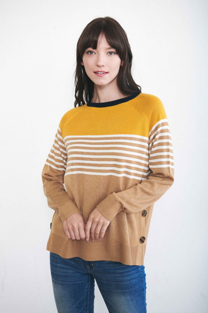 Mustard Yellow Stripe Sweater