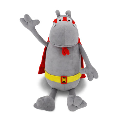 "Hippococo 20"" Stuffed Hippopotamus, Superhero Hippo Animal Plush for Kids"