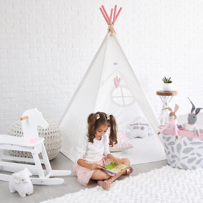 Awards Winning Kids Foldable Teepee Play Tent (2 colors available) - Limited Time Bonus: Family Fun Crafts eBook
