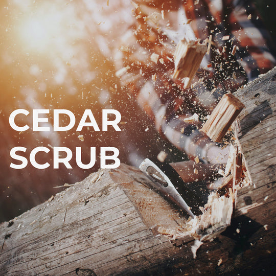 cedar exfoliate soap for men