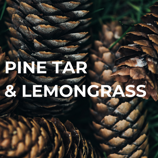 pine tar lemongrass soap
