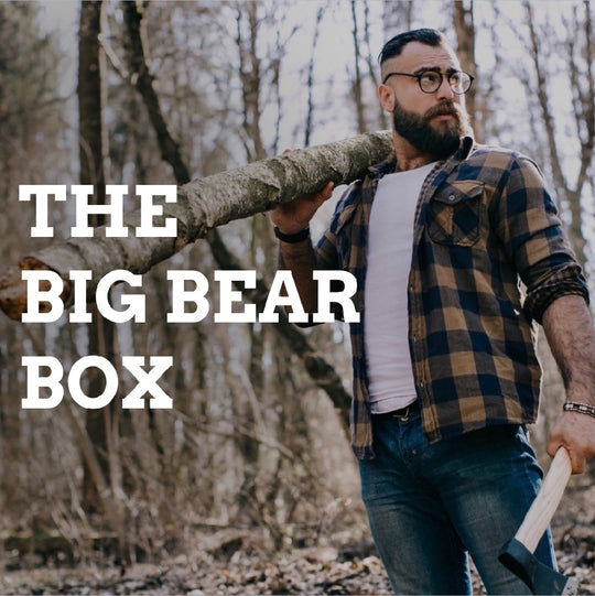 big bear box of soaps for men by Bearsville Soap Company