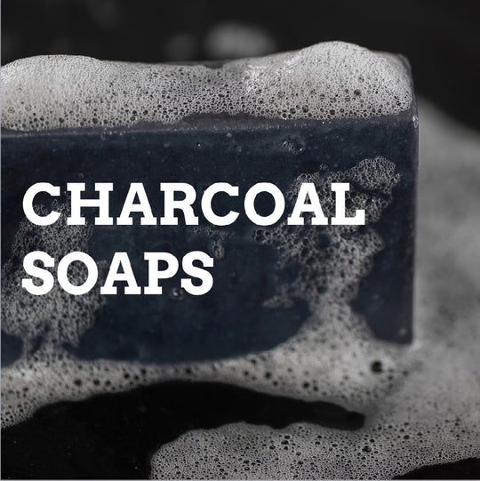 charcoal soaps for men by Bearsville Soap Company