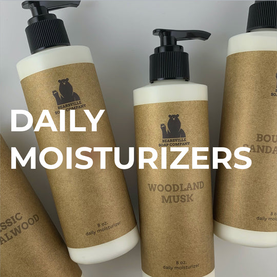 natural moisturizers for men by Bearsville Soap Company