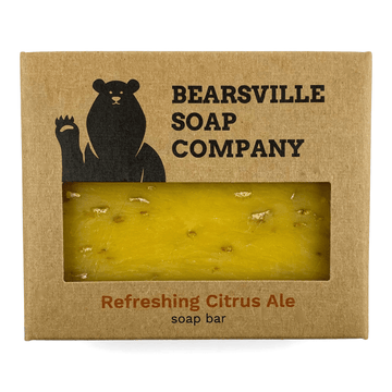 citrus beer soap for men