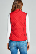 Small to Large Faux Shearling Lined Quilted Padding Vest