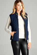 XL to 2X Faux Shearling Lined Quilted Padding Vest