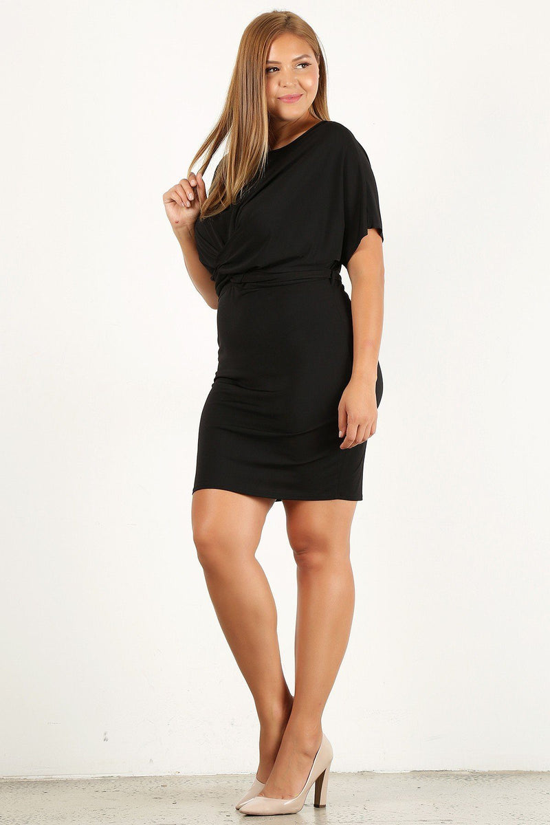 Plus Size Solid, Bodycon Dress