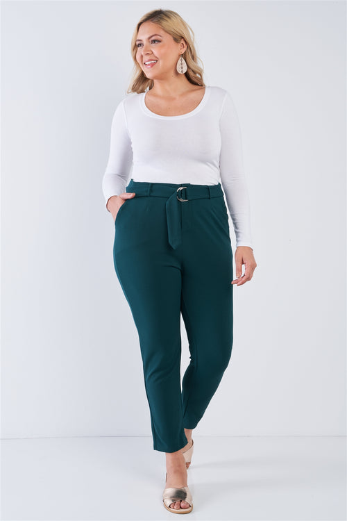 Plus Size High Waisted Business Casual Ankle Length Pants