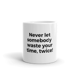 Meme mug with slogan