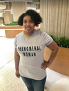 Phenomenal woman t-shirt worn. This one is size large from Lattes and Mamma T's Boutique