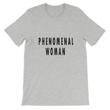 Phenomenal Woman Tee in Athletic Heather Grey. Lattes and Mamma T's Boutique lattesandmommas.com