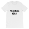 Phenomenal Woman Tee in White with black letters. Lattes and Mamma T's Boutique lattesandmommas.com