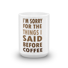 Coffee meme mug 15oz front view