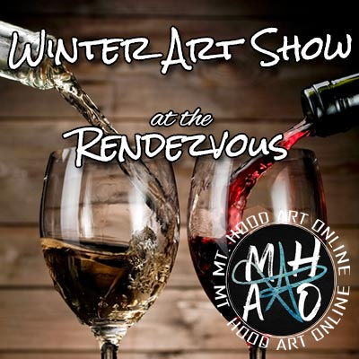 Winter Art Show at Rendezvous & Wine Down Wednesday