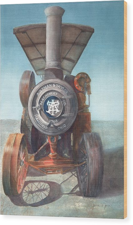 1762 Steam Tractor - Wood Print
