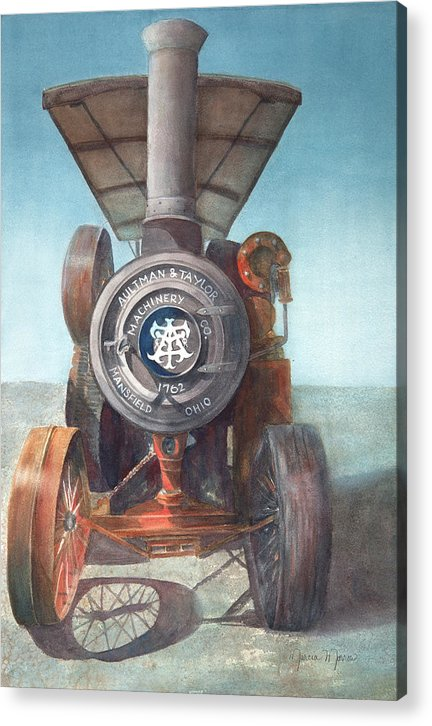 1762 Steam Tractor - Acrylic Print