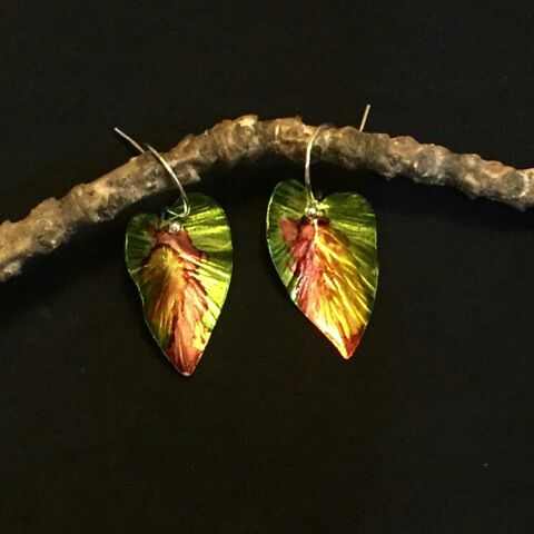 Mixed Patina Leaf