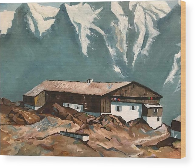 Base Camp - Wood Print