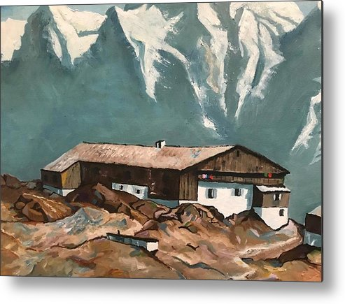 Base Camp - Metal Print