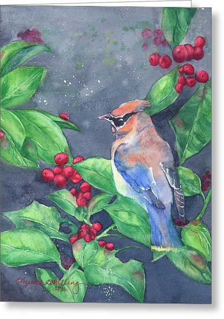 Bird In The Bush - Greeting Card
