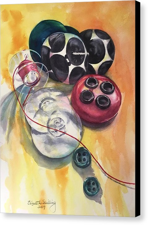 Bj's Buttons - Canvas Print