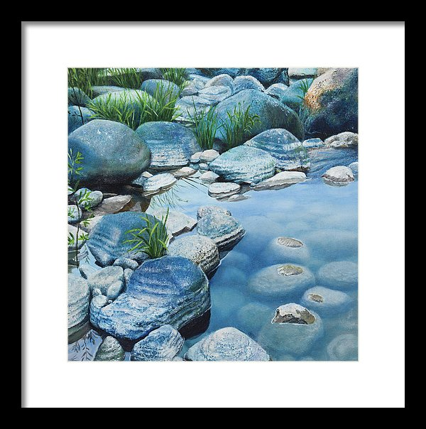 Blue Pool - Framed Print